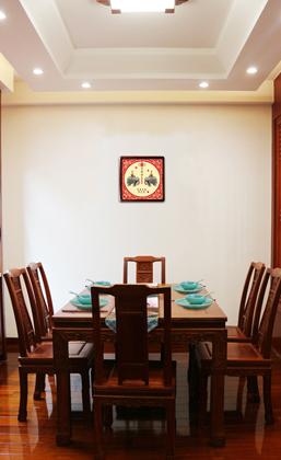 《平安吉象·钱到家》丝绸画壁挂
