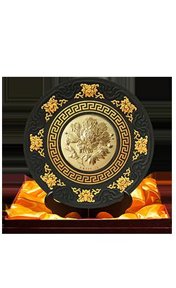 《花开富贵》金章·炭雕